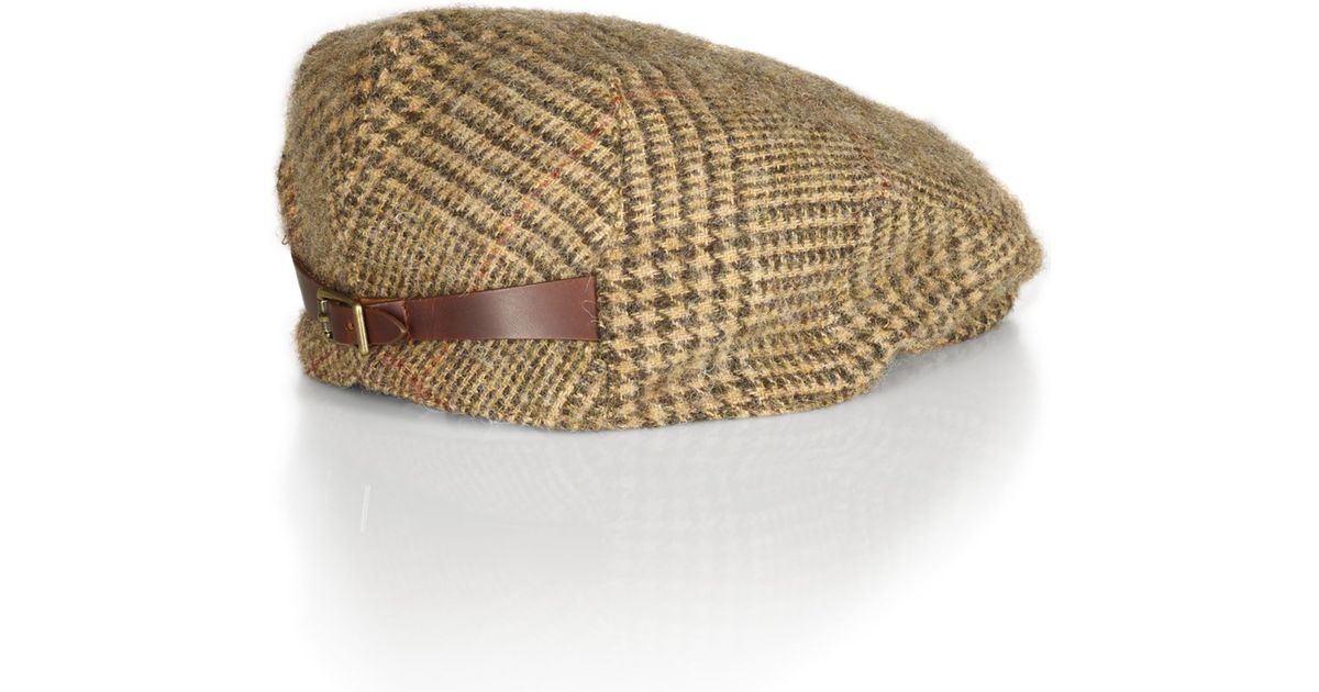 c8c9e7d3 Polo Ralph Lauren Tweed Estate Driving Cap in Brown for Men - Lyst