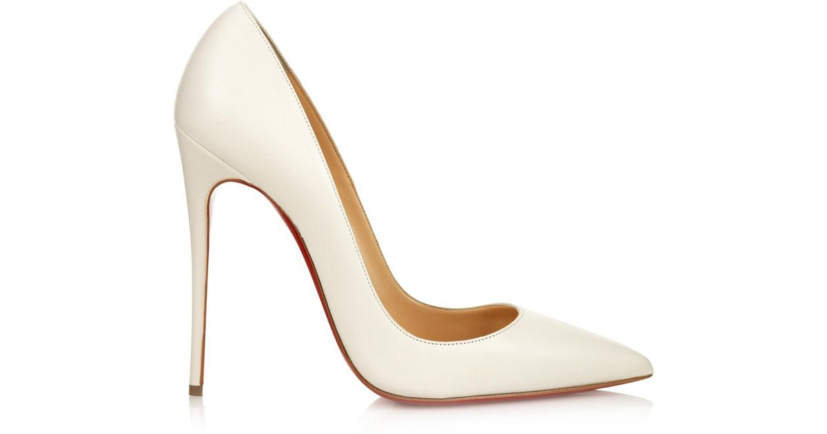 d20e94ef7d0 Lyst - Christian Louboutin So Kate 120Mm Pumps in White