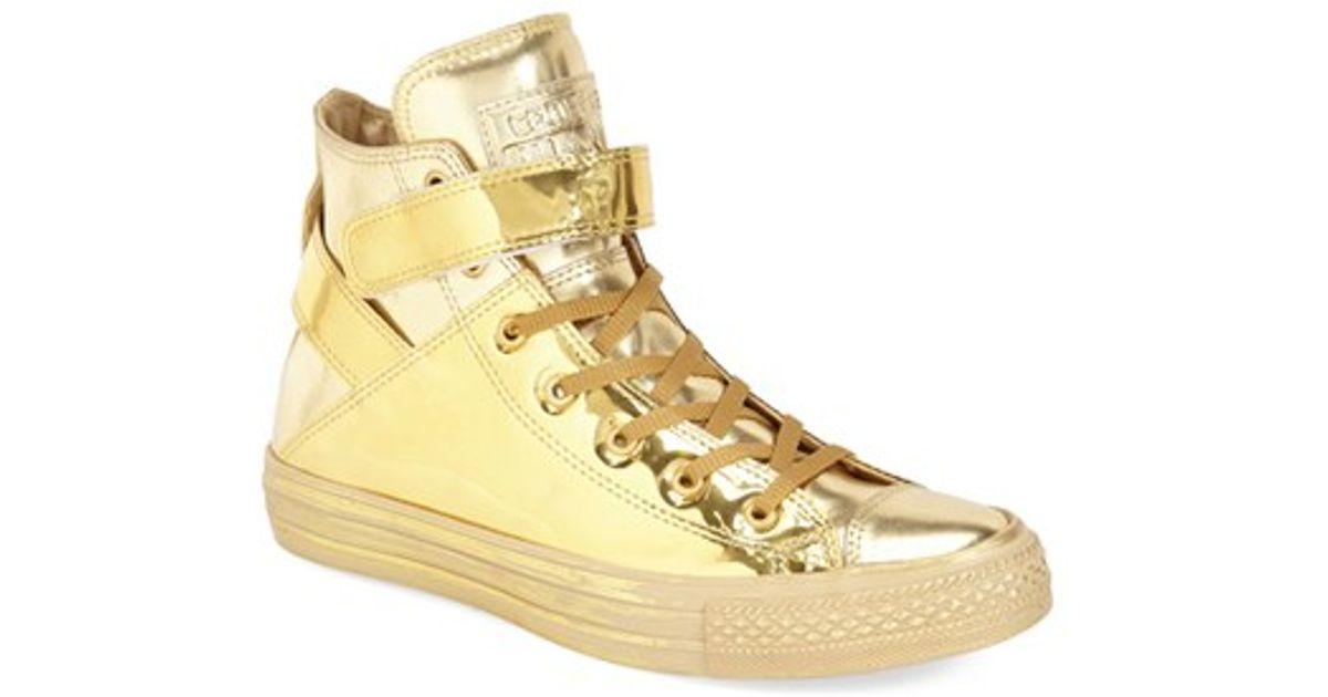 5d5ed9adb2ad ... promo code for lyst converse chuck taylor all star brea metallic high  top sneaker in metallic