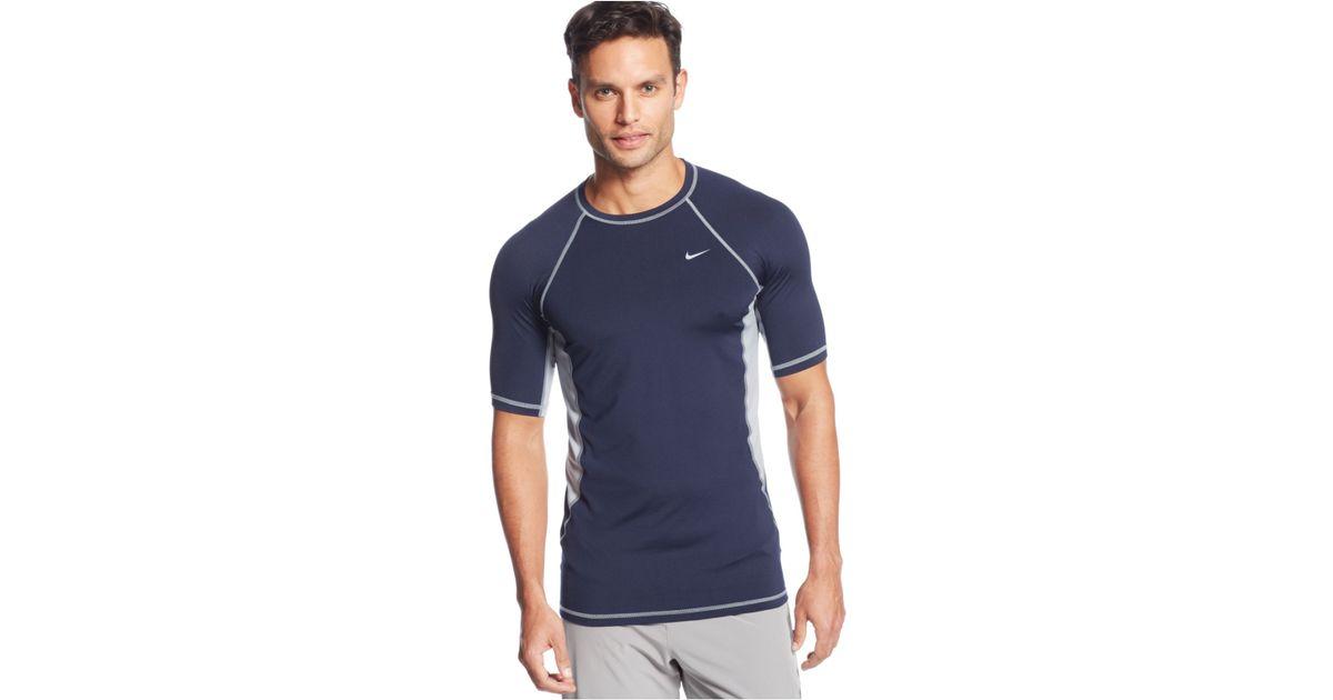 c90dddcff Lyst - Nike Hydro Color Surge Upf Rashguard in Blue for Men