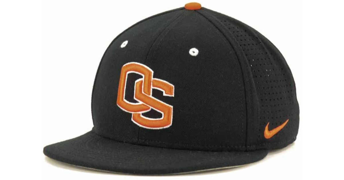 e75895177 Nike Oregon State Beavers Ncaa Authentic Vapor Fitted Cap in Black for Men  - Lyst