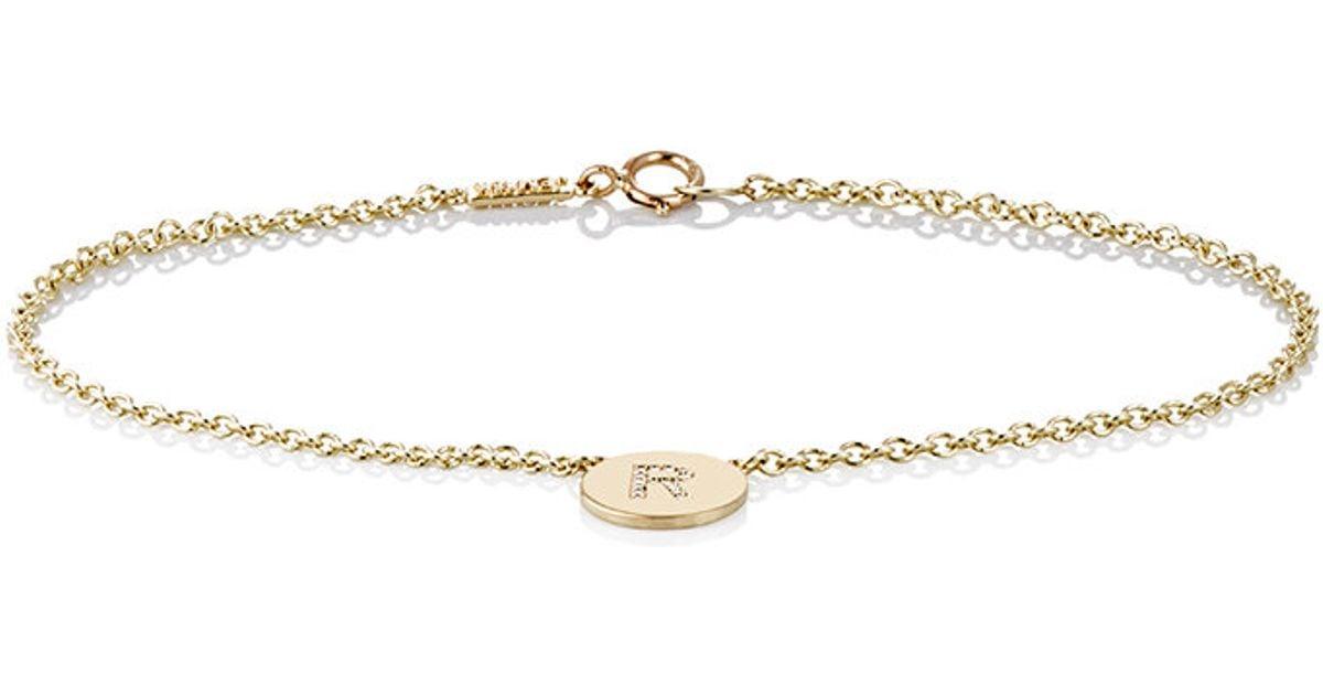 Jennifer Meyer Womens Initial L Disc Bracelet VQDko8iI