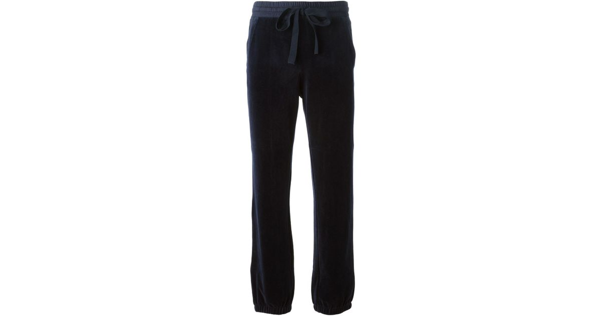 d0832925a8 Sonia by Sonia Rykiel Velour Track Pants in Blue - Lyst