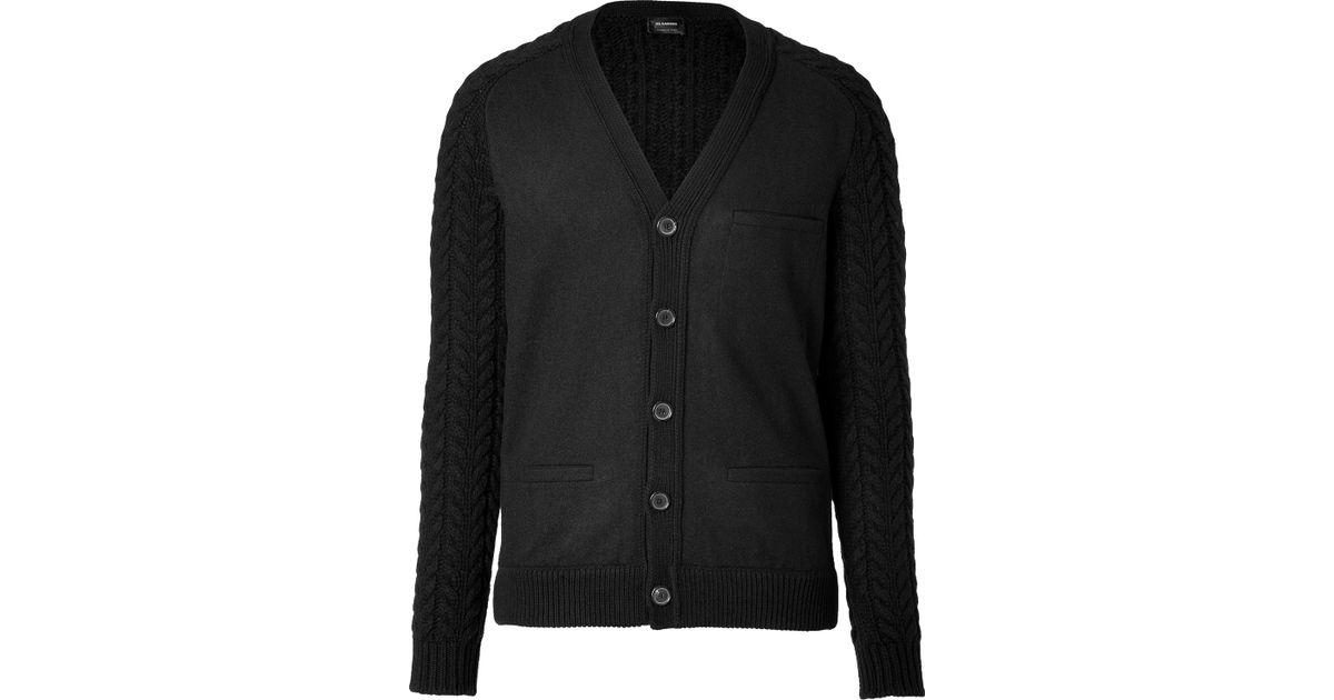 Jil sander Wool Cardigan In Black in Black for Men   Lyst