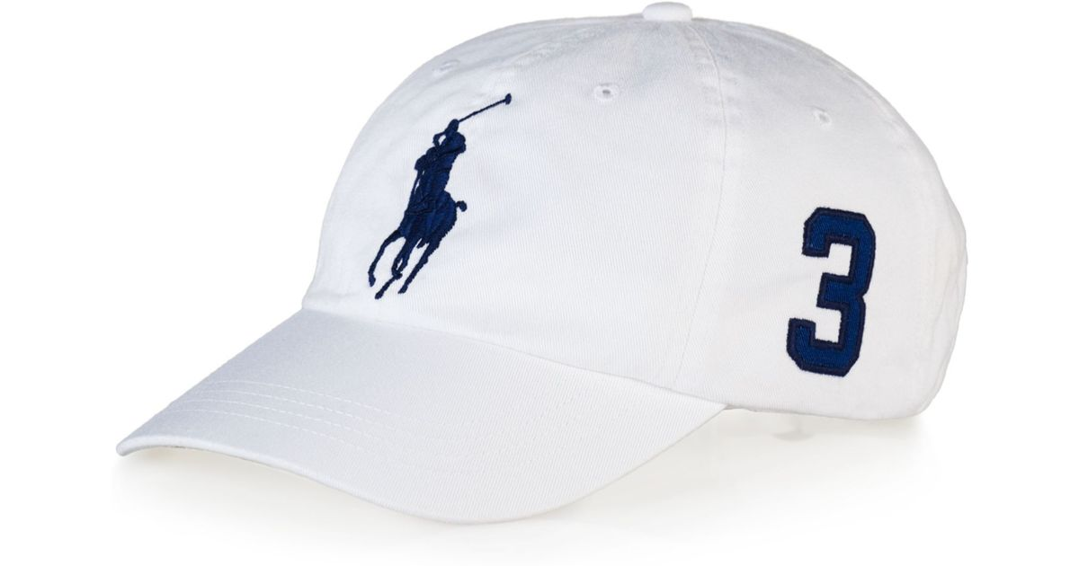Lyst - Ralph Lauren Polo Classic Chino Sports Cap in White for Men 19a5ec68756