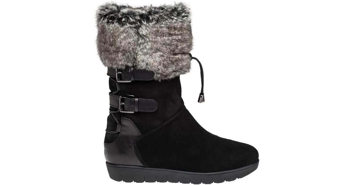 Womens Black Fur Boots   eBay