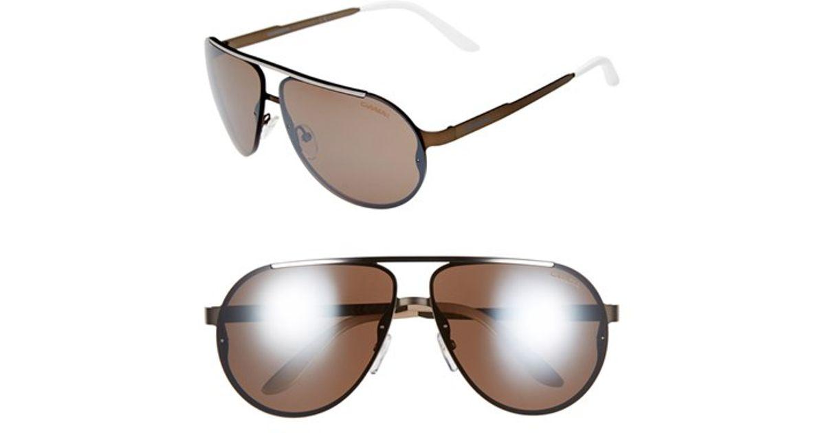 799694688bf Lyst - Carrera 65mm Aviator Sunglasses in Black for Men