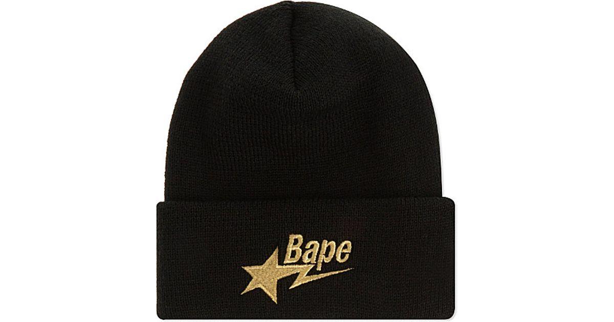 A Bathing Ape Beanie Hat in Black for Men - Lyst 2ff1fb90c3d