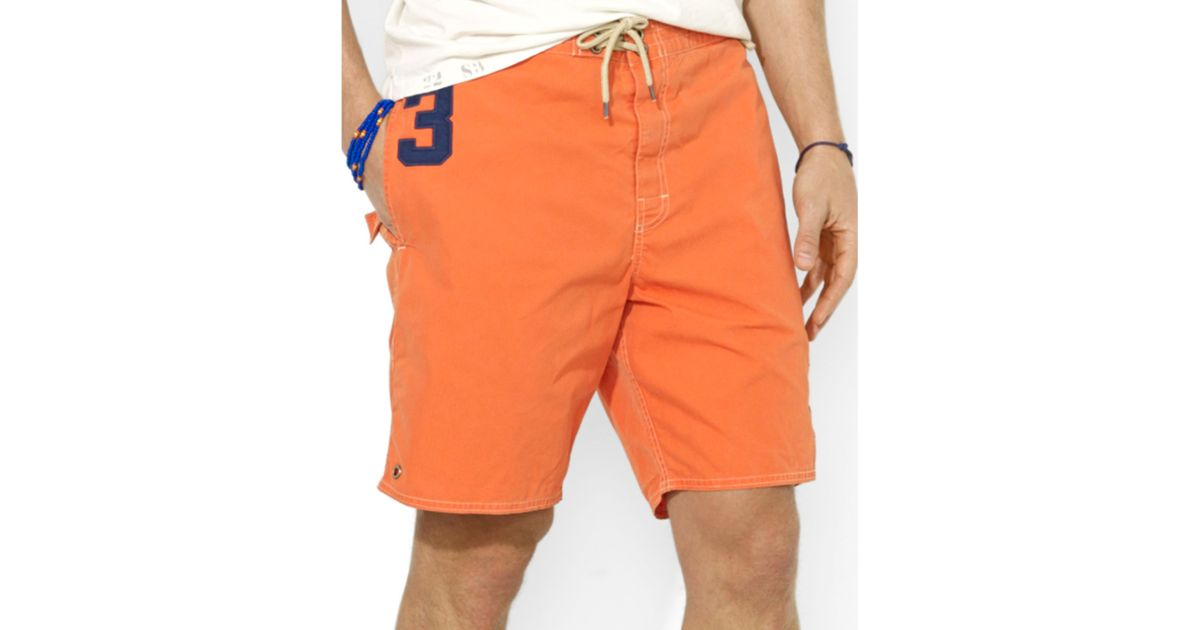 850c44092d ... best price lyst ralph lauren polo sanibel big pony swim trunks in  orange for men 9261f