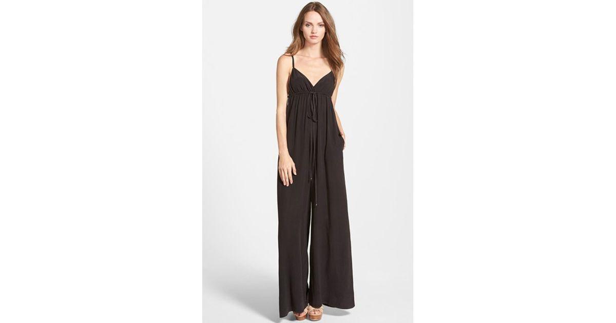 57d93fc488e8 Lyst - Gypsy 05 Spaghetti Strap Jumpsuit in Black