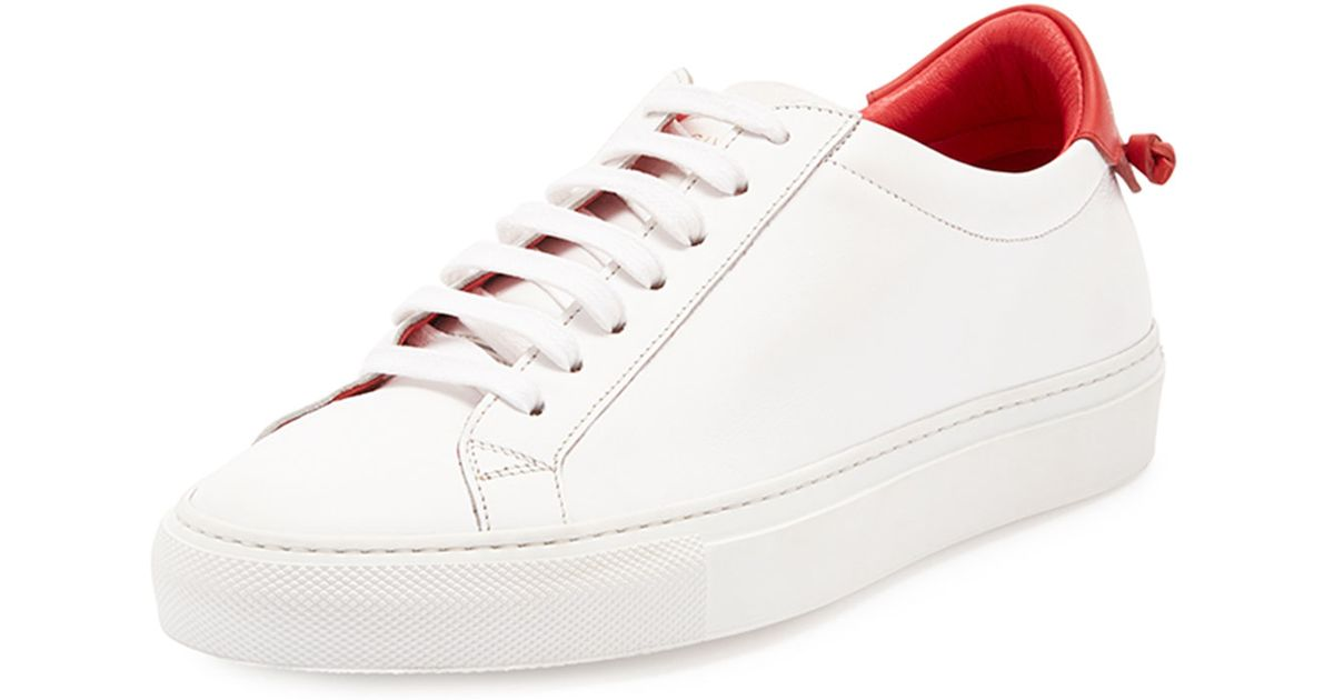 6fd8fbba0dd Lyst - Givenchy Calfskin Low-top Sneakers in White