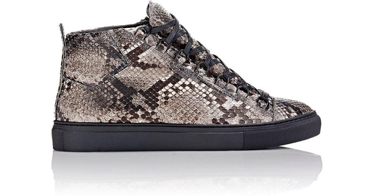 Lyst - Balenciaga Python Arena High-top Sneakers for Men 1512dec8a