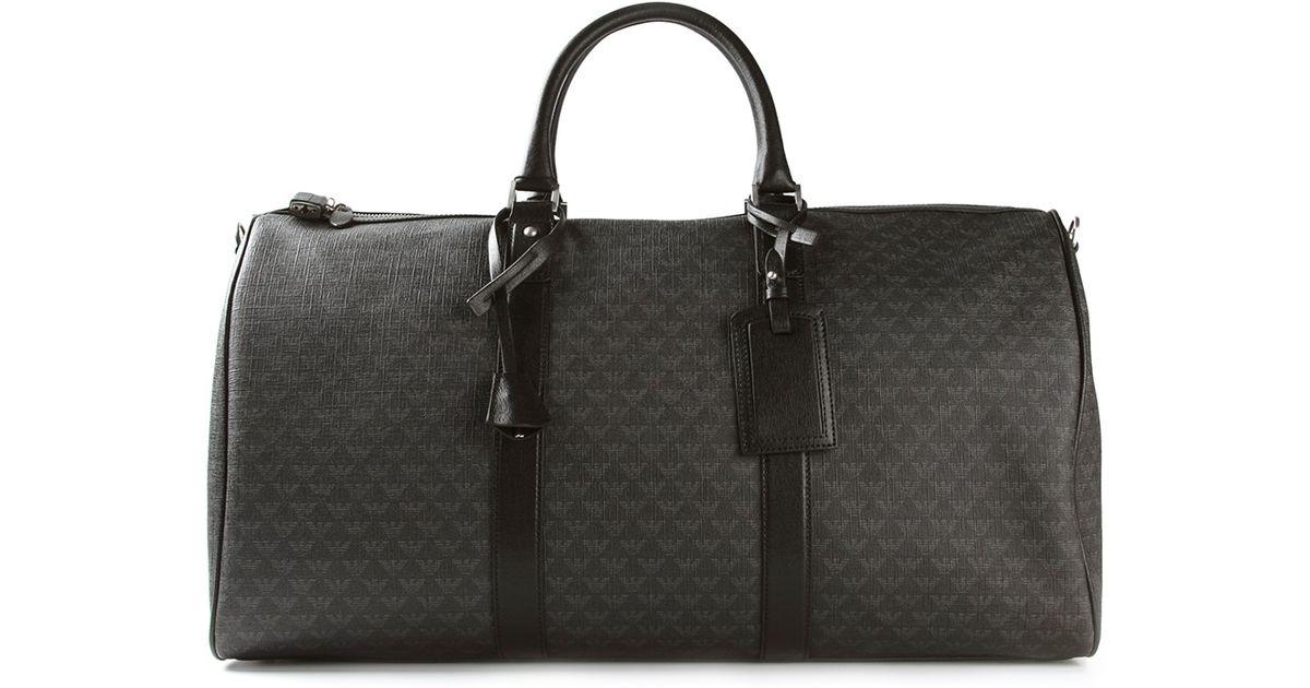 Lyst - Emporio Armani  Boston  Bag in Gray for Men c196cf1795d6f