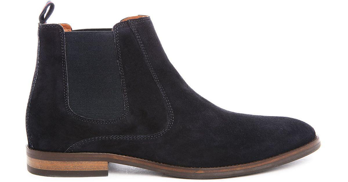 tommy hilfiger dalton 18b suede chelsea boots in blue for men lyst. Black Bedroom Furniture Sets. Home Design Ideas
