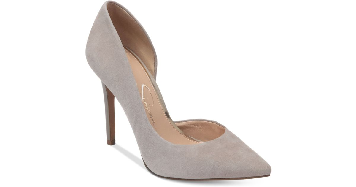 c0a7be8aae45 Lyst - Jessica Simpson Claudette Dorsay Pumps in Gray