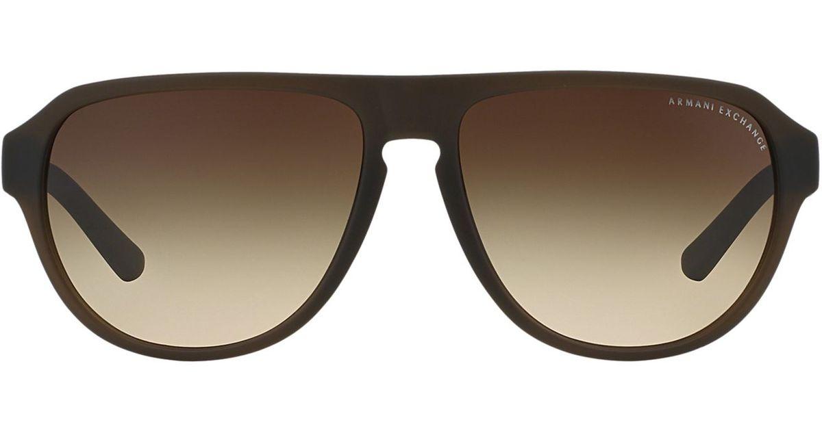 a37497af4b0 Lyst - Armani Exchange Ax Sunglasses