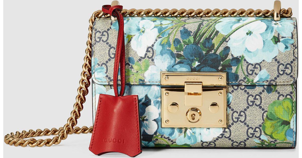 6582dbaf5187 Gucci - Multicolor Padlock Gg Blooms Shoulder Bag - Lyst