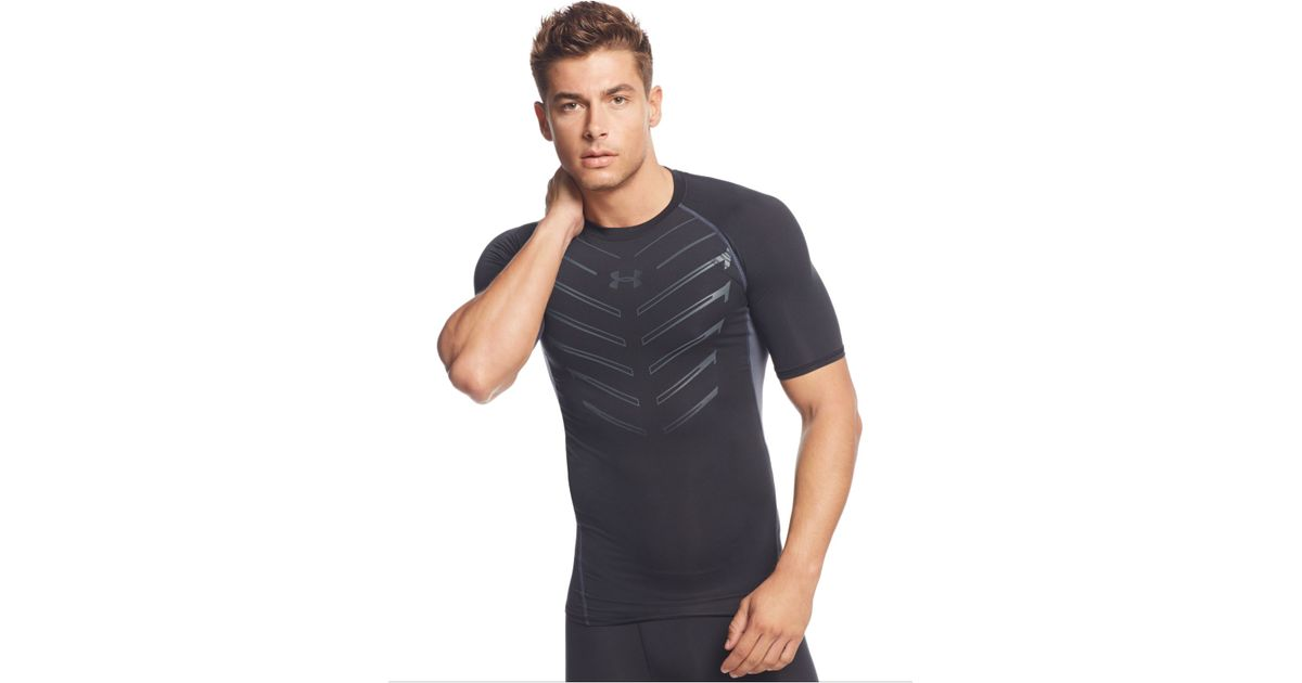 620b86130 Under Armour Exo Heatgear Compression T-shirt in Black for Men - Lyst