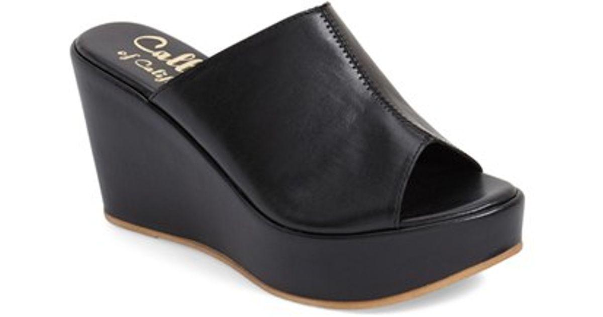 a2dc8327d894 Lyst - Callisto  marlaa  Platform Wedge Slide Sandal in Black