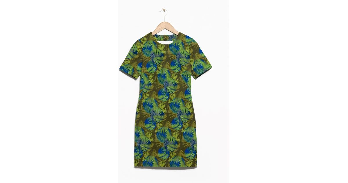 Other stories rainforest embroidery dress in green lyst