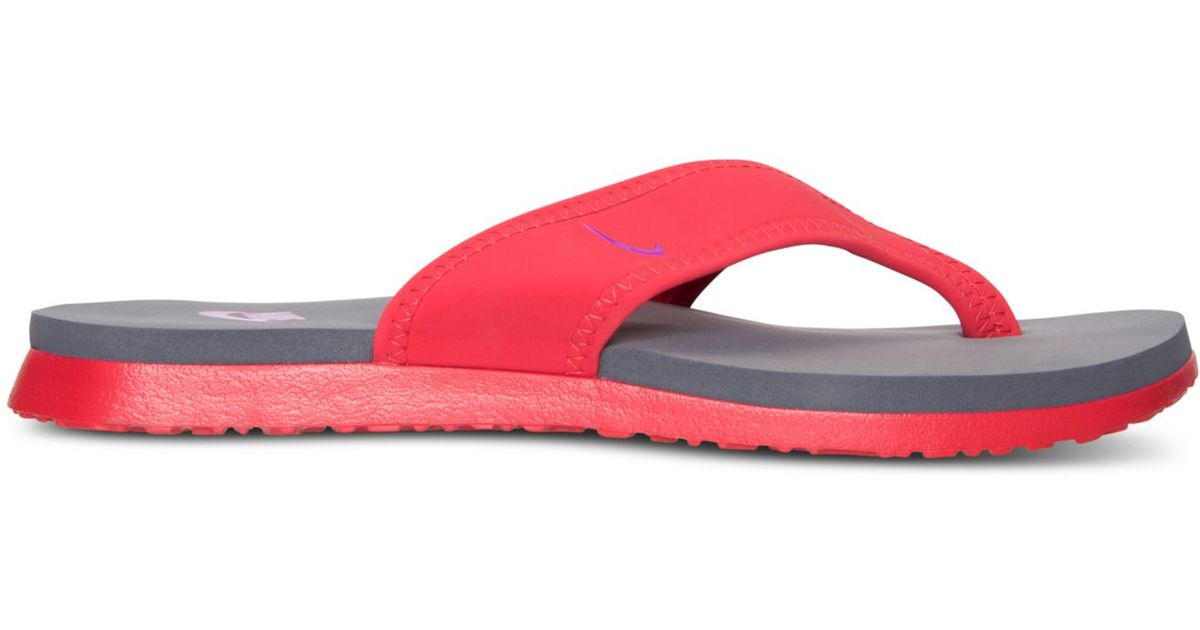 7f4285b89536be Lyst - Nike Men s Celso Plus Thong Sandals From Finish Line in Red for Men