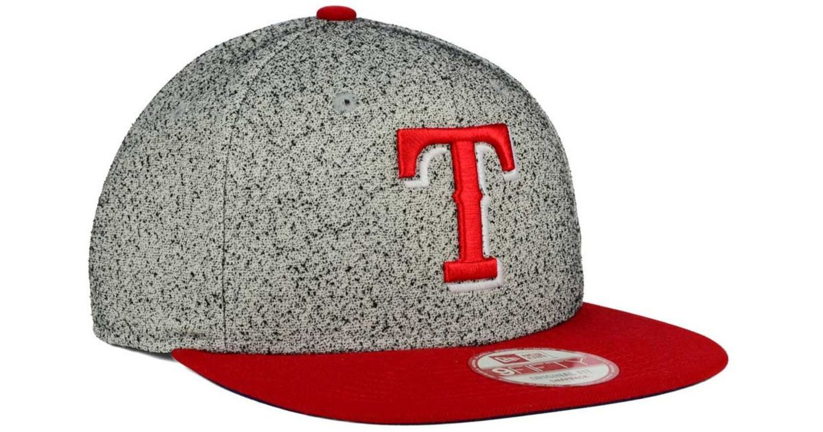 premium selection 52f42 a3c0f ... canada lyst ktz texas rangers spec 9fifty snapback cap in gray for men  88529 8598b