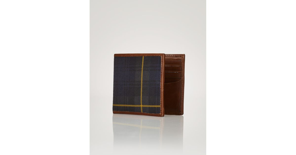 Lyst - Polo Ralph Lauren Tartan   Leather Wallet for Men 8865bca18519e
