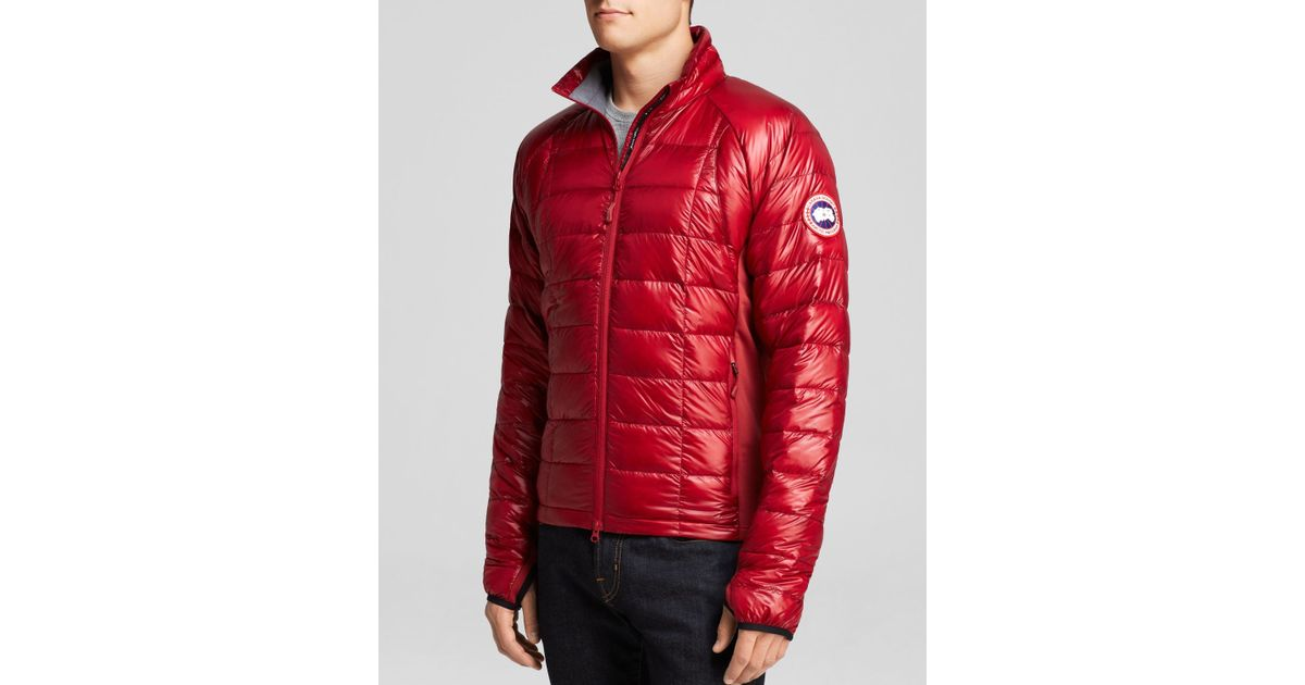 794284b1dfa Canada Goose Hybridge Lite Quilted Down Jacket in Red for Men - Lyst