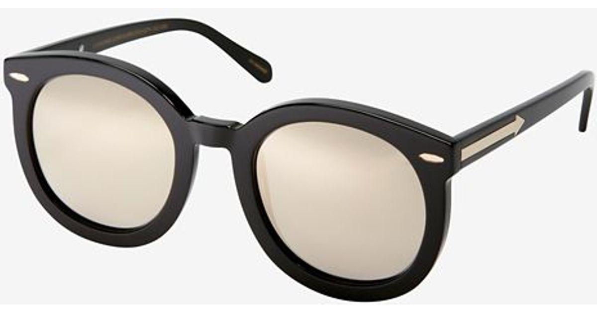 3756651fcc8 Lyst - Karen Walker Superstars Super Duper Strength Sunglasses in Black