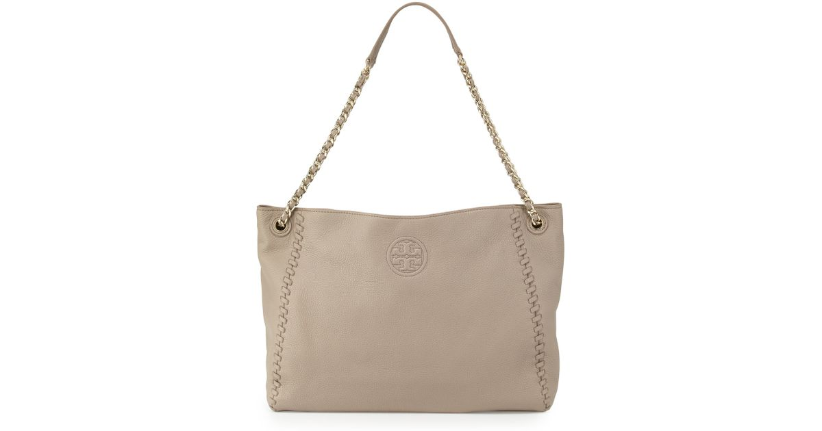 ec6a0ab224a Lyst - Tory Burch Marion Chain-strap Slouchy Tote Bag in Gray