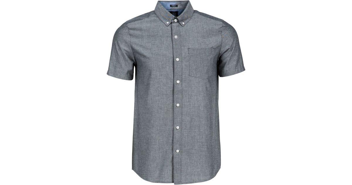Volcom Men 39 S Everett Short Sleeve Oxford Shirt In Black