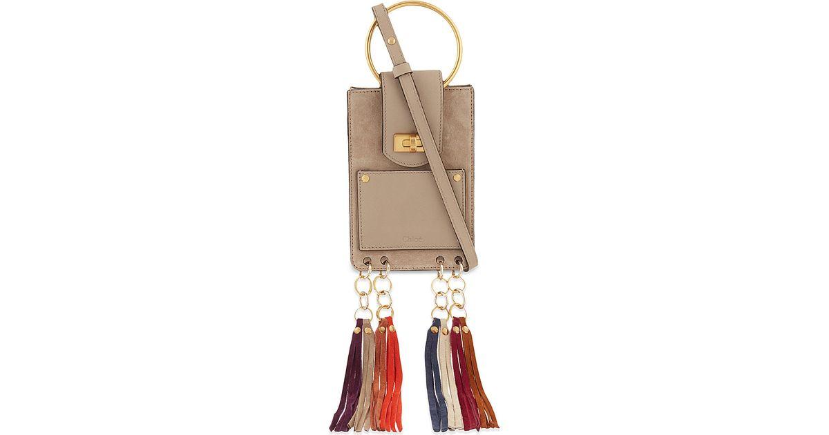 see by chloe wallets - Chlo�� Jane Mini Tassel Bag - Gray in White | Lyst