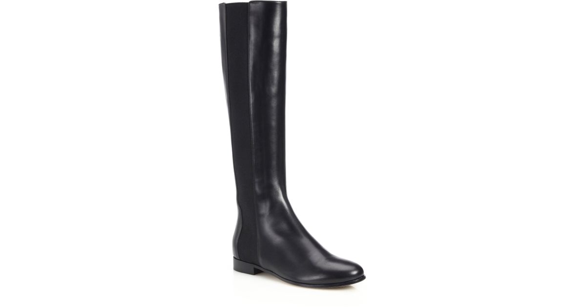 jimmy choo faith leather boot in black lyst
