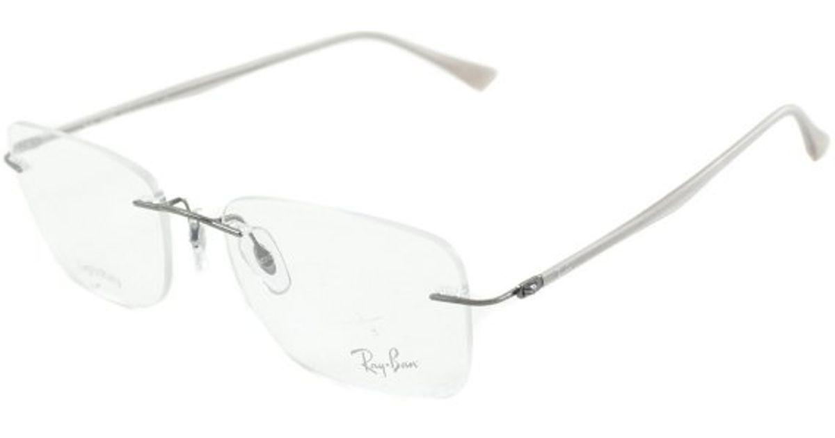 ee6e0f45657c6 ... new zealand lyst ray ban rx 8725 1000 gunmetal rimless metal eyeglasses  54mm in metallic 037d2