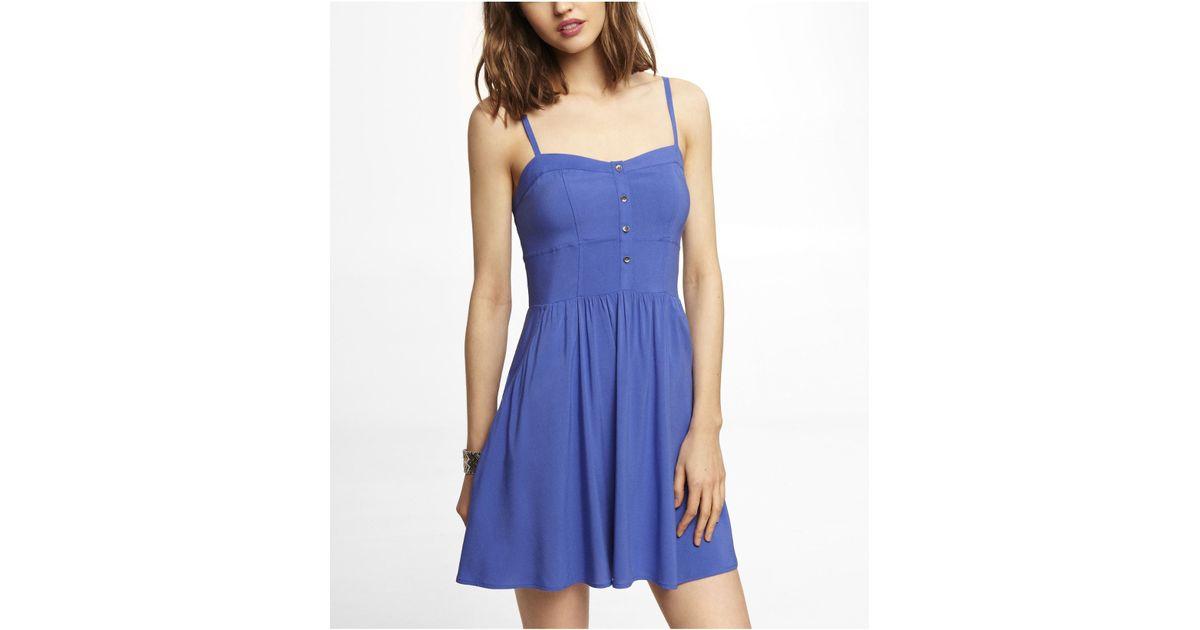 22dd54bae2 Express Blue Cami Sundress in Blue - Lyst