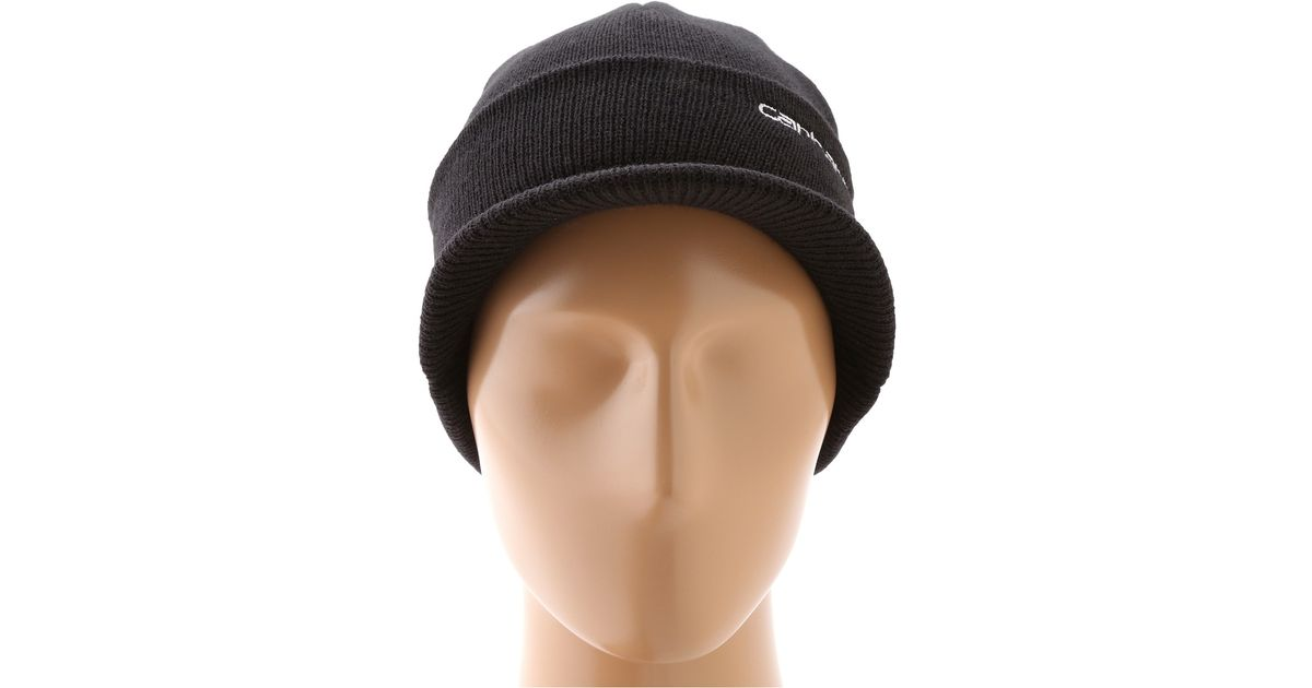 5340f1ac9508c Lyst - Carhartt Knit Hat With Visor in Black for Men