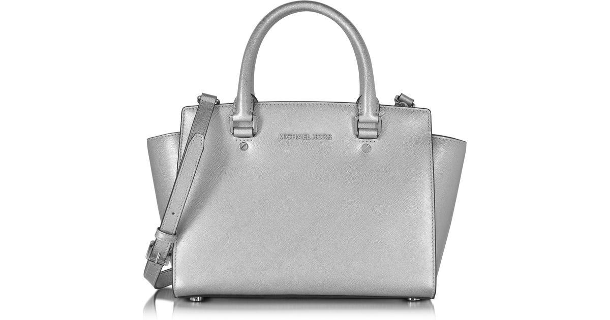 Michael Kors Selma Medium Laukku : Michael kors selma saffiano leather medium satchel bag in