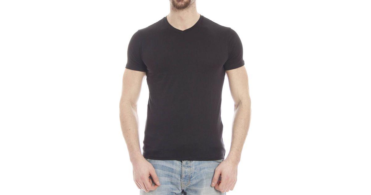 armani jeans t shirt in black for men nero save 31 lyst. Black Bedroom Furniture Sets. Home Design Ideas