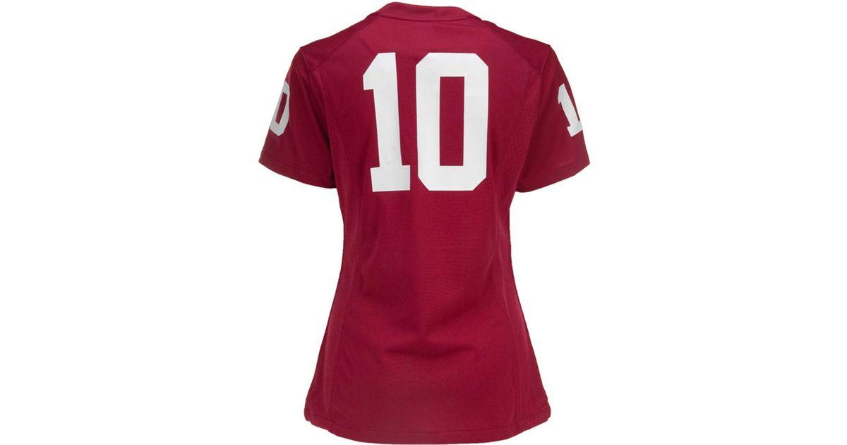 pretty nice 96929 eb1f4 Nike - Red Women's Oklahoma Sooners Football Game Jersey - Lyst