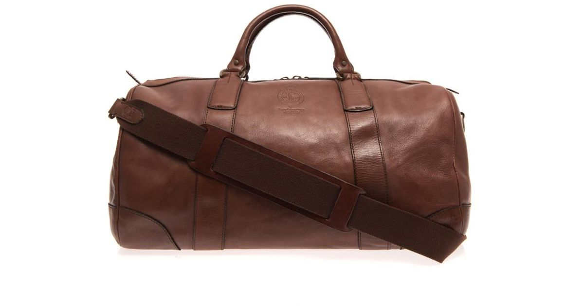 6256b02d3875 Lyst - Polo Ralph Lauren Leather Travel Bag in Brown for Men