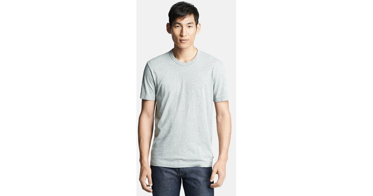 James perse 39 classic 39 crewneck t shirt in gray for men lyst for James perse t shirts sale