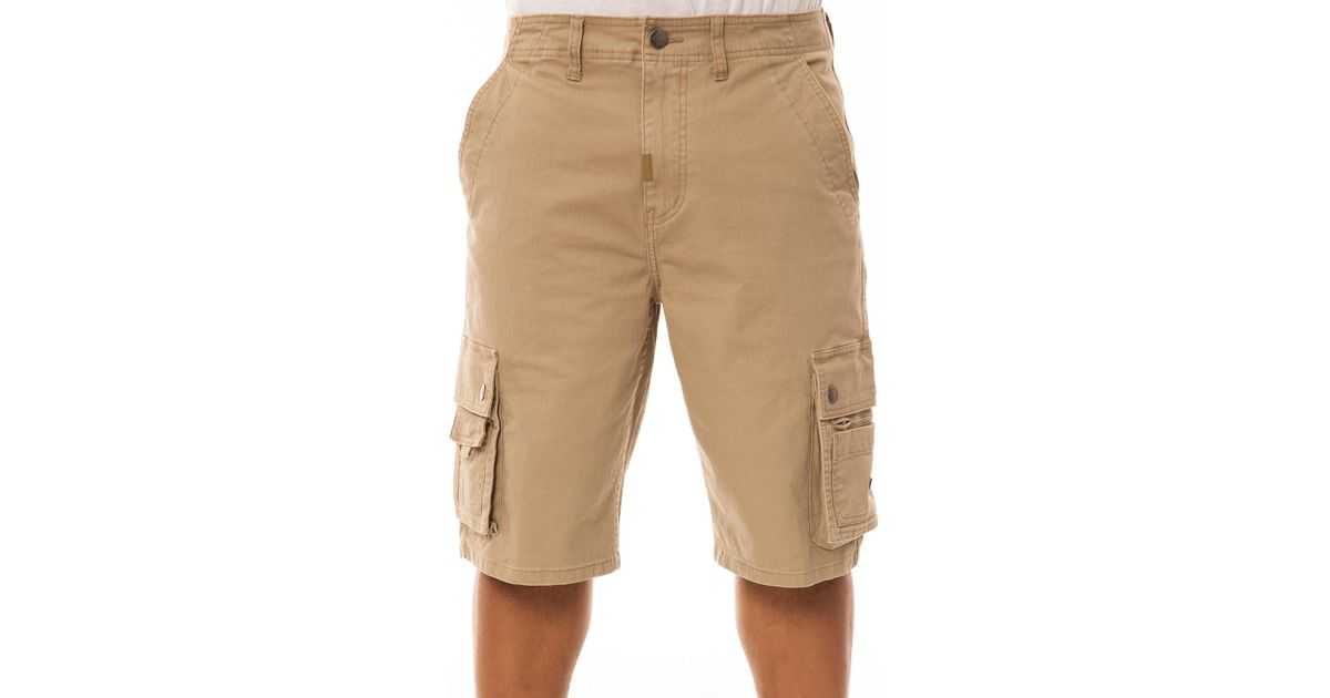 5bdb5896949c Lyst - LRG The Leaves Roots Grow Classic Cargo Shorts in Natural for Men