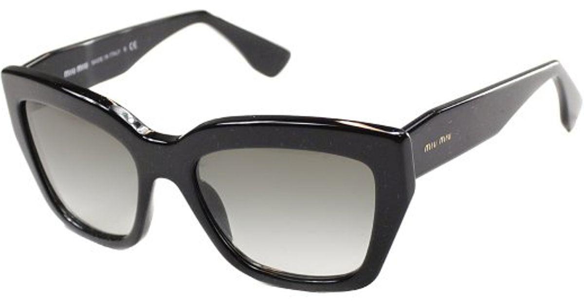 6deeeaf6e5cd Miu Miu Rasoir Mu 01Ps 1Ab0A7 Black Plastic Sunglasses Grey Gradient Lens  in Black - Lyst