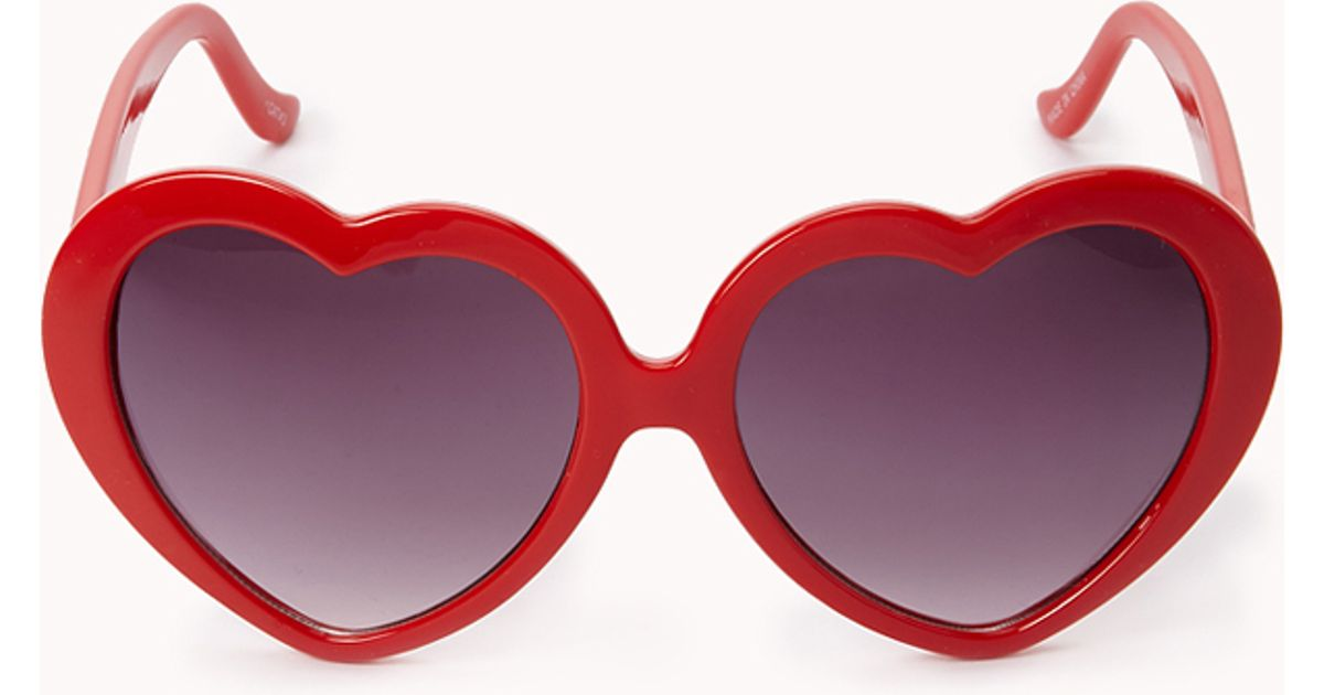 d95938b7ac1 Lyst - Forever 21 Lolita Sunglasses in Red