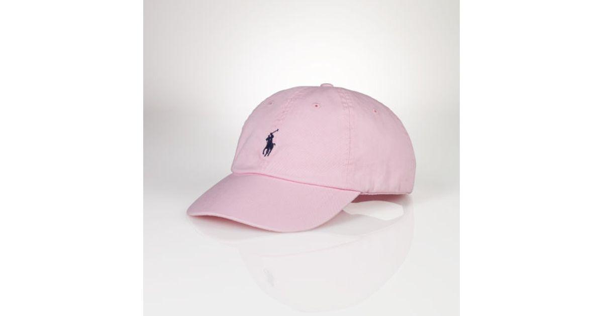 09b27c227 Polo Ralph Lauren Signature Pony Cap in Pink for Men - Lyst
