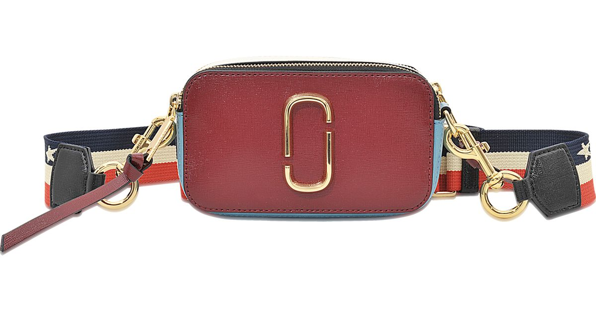 Marc Jacobs Snapshot Colorblock Saffiano Small Camera Bag in Red - Lyst 07d21b01492