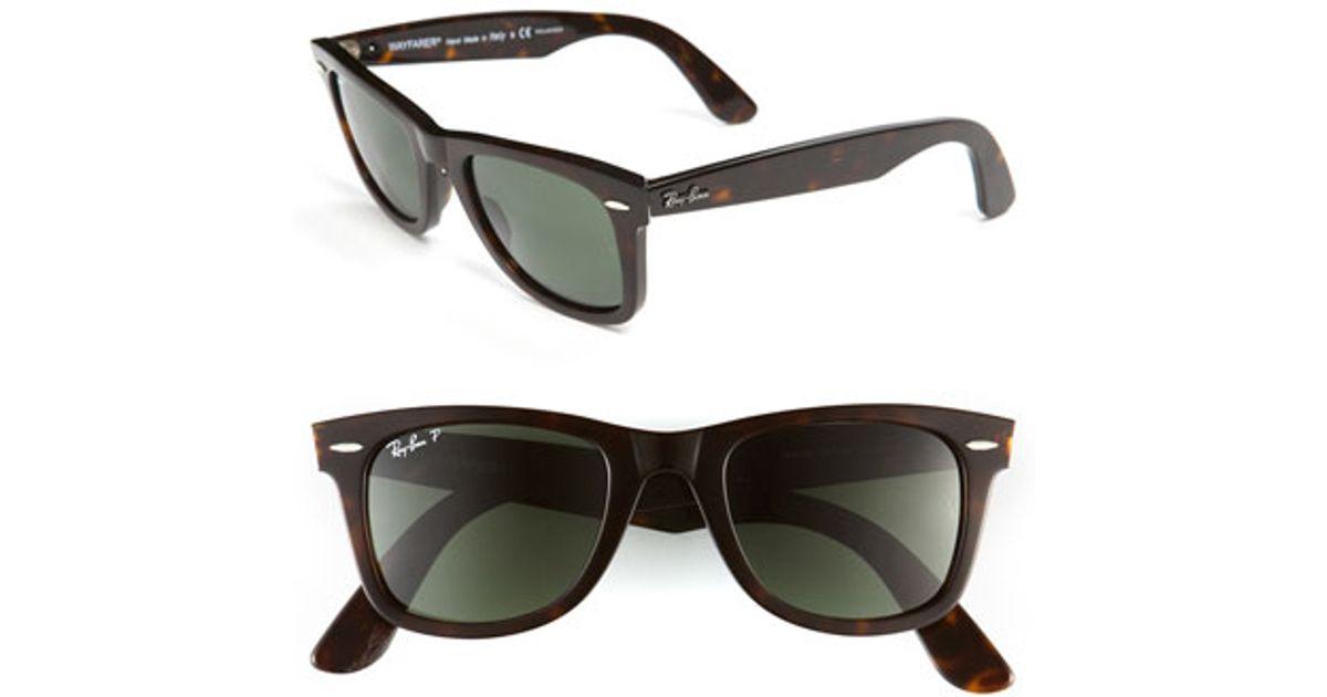 classic wayfarer 50mm polarized sunglasses  Ray-ban \u0027classic Wayfarer\u0027 50mm Polarized Sunglasses in Black