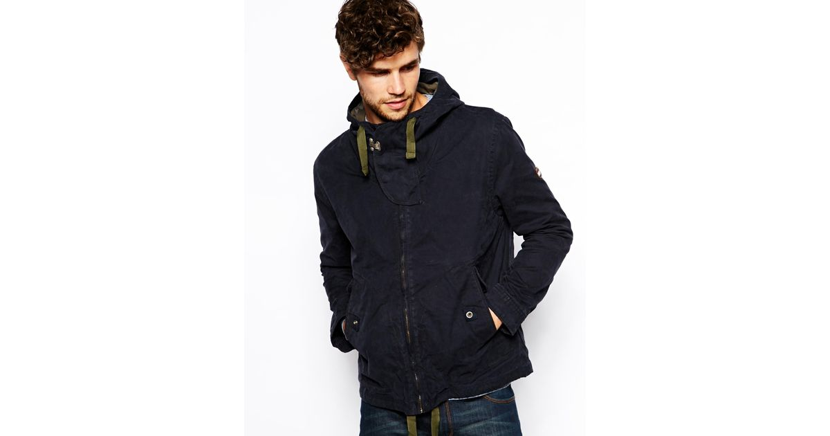 hilfiger denim parka in blue for men blackirispt lyst. Black Bedroom Furniture Sets. Home Design Ideas