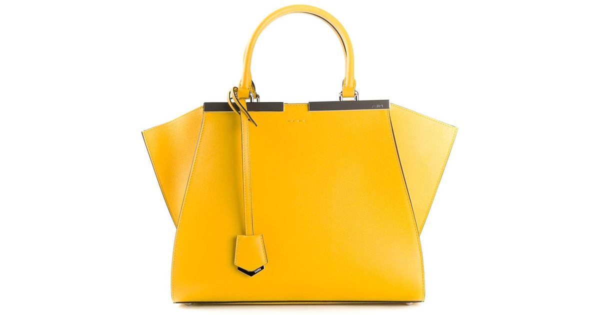 c5ee153bbddf discount code for fendi 3 jours leather satchel bag dove taupeonline new  yorkon sale 84128 5329d  discount lyst fendi 3jours tote in yellow a0d84  7e326