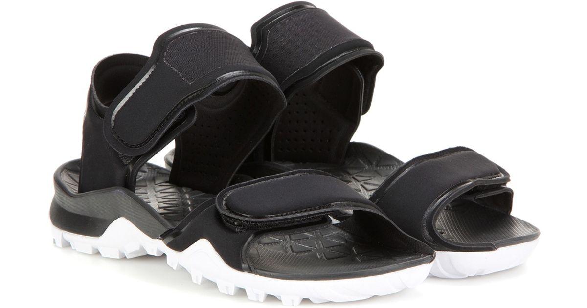 1d81c9807034 Lyst - adidas By Stella McCartney Black Sandals in Black